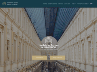 Les galeries royales Saint Hubert en Belgique