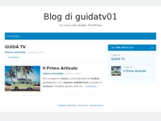 Guida TV 01 - Una semplice guida ai programmi televisivi dei canali italiani.