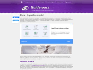 Capture du site http://www.guide-pacs.com