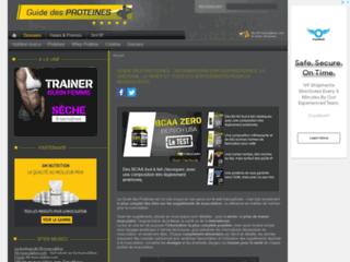 Guide sur les suppléments de musculation sur http://www.guide-proteines.org