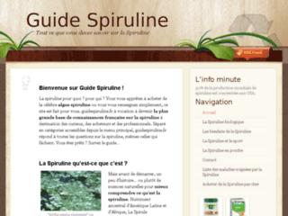 Capture du site http://guidespiruline.fr/