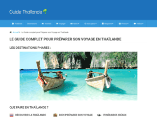 Aperçu du site Guide Thaïlande