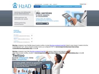 H2ad, soins à domicile sur http://www.h2ad.net