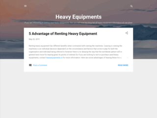 5 Advantage of Renting Heavy Equipment