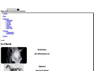 Capture du site http://www.hippologie.fr