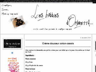 Les Hobbies d'Ombretta, recettes cosm�to home made