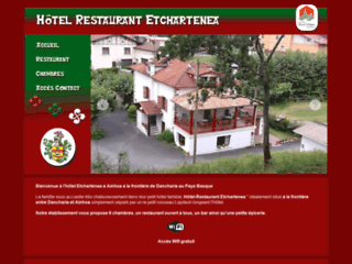 H tel restaurant etchartenea dancharia pays basque for Hotel design pays basque