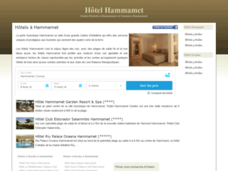 Capture du site http://www.hotel-hammamet.info