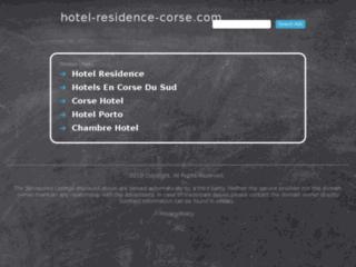 Hôtel residence corse