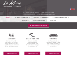Capture du site http://www.hoteldelamaree.com