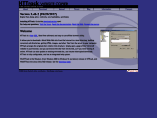 Info: Scheda e opinioni degli utenti : HTTrack - Scarica interi siti web, Download siti internet per PC Windows
