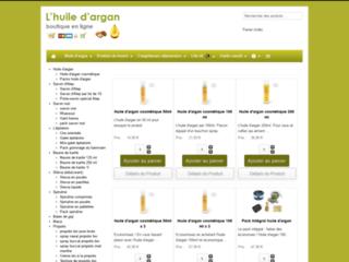Détails : Boutique de l'huile d'argan