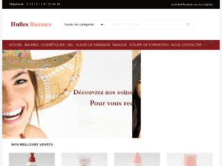 Huiles & Baumes sur http://www.huiles-baumes.com