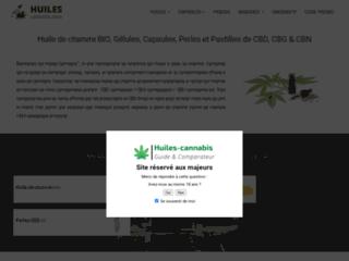 Détails : Huiles cannabis