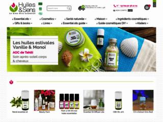Huiles & Sens Aromathérapie sur http://www.huiles-et-sens.com