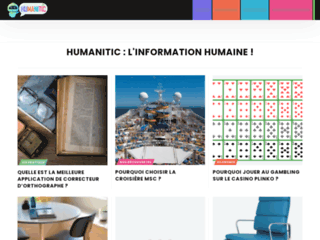 Capture du site http://www.humanitic.fr