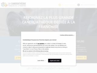 Capture du site http://www.idee-franchise.com