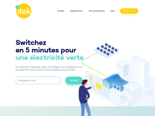 Electricité verte à vendre sur la plateforme Ilek