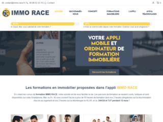 Détails : Plateforme d'information pratique sur l'application IMMO RACE