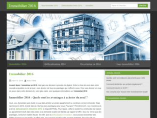 Immobilier 2016