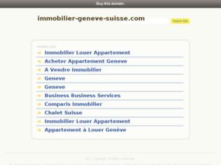 Capture du site http://www.immobilier-geneve-suisse.com