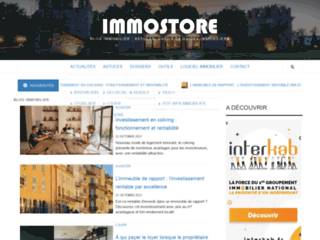 Capture du site http://www.immostore.com