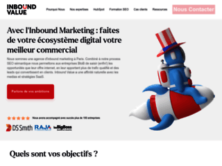 Aperçu du site Inbound Value