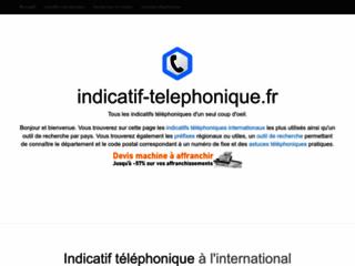 Détails : Indicatifs téléphoniques et ressources sur téléphonie