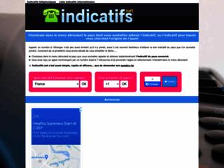 Détails : Liste des Indicatifs telephonique internationaux