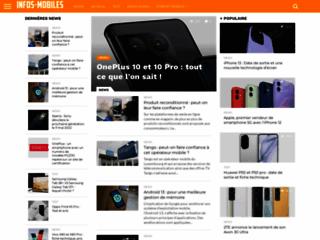 Aperçu du site Infos Mobiles