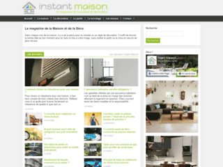 Aperçu du site Instant Maison