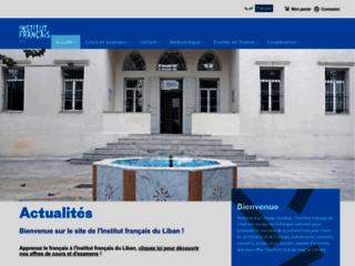 Capture du site http://www.institutfrancais-liban.com/