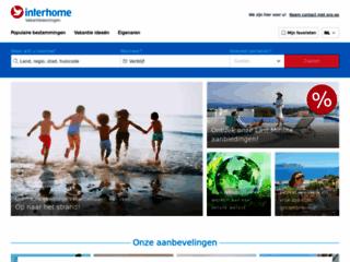 Capture du site http://www.interhome.be/