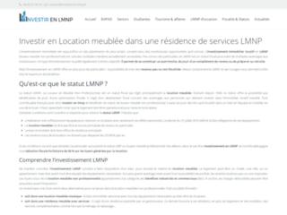 Détails : Investissement LMNP : spécialiste résidences de services