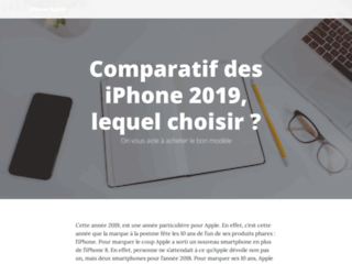 Capture du site http://iphone-apple.fr/