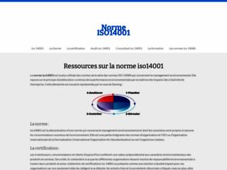 Aperçu du site Iso14001.fr