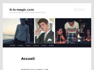 Capture du site http://www.it-is-magic.com