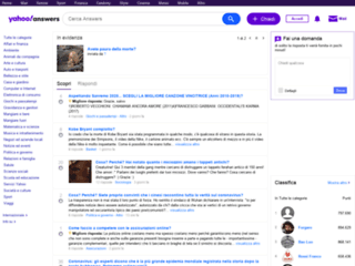 Yahoo! Answers - Invia domande e ricevi risposte su ogni argomento