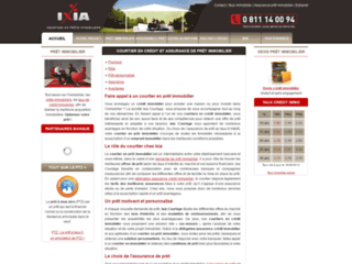 Capture du site http://www.ixia-courtage.com