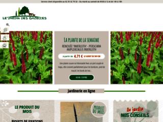 Capture du site http://www.jardindesgazelles.fr
