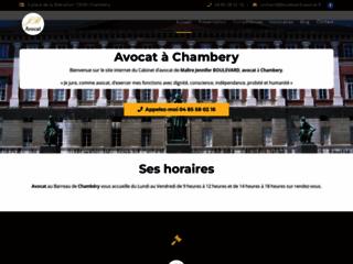 Détails : Maître Jennifer BOULEVARD, avocat généraliste à Chambéry