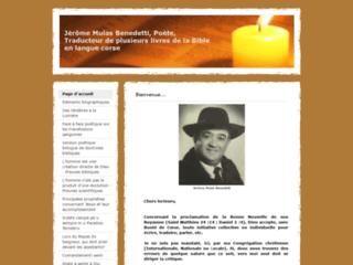 Jérôme Mulas Benedetti, poète, traducteur de plusieurs livres de la Bible en langue corse
