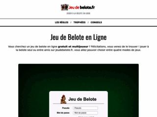 Jeudebelote.fr, votre jeu de belote en ligne
