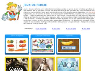 Capture du site http://www.jeux-de-ferme.net