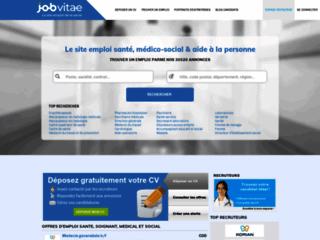Capture du site http://www.jobvitae.fr
