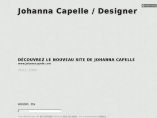 Capture du site http://johannacapelle.tumblr.com/