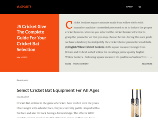 JS Cricket Help to Buying the Correct Cricket Sports Equipment