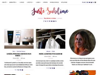 Juste Sublime: Blog Beauté et Cosmétiques