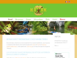 kayak tribu : location de canoës- kayak . Week-end sport et insolite dans l'hérault