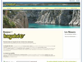 Détails : kayak cassis calanques